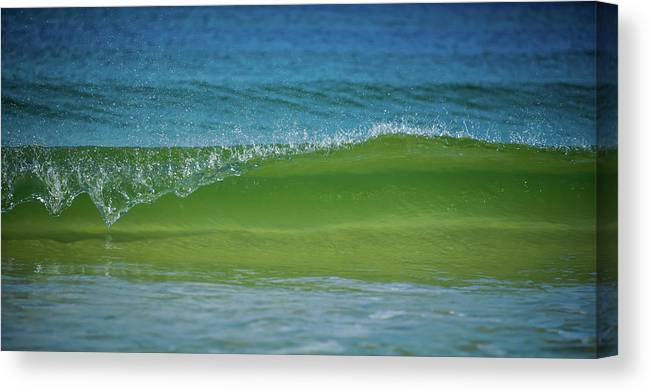 Cape San Blas Canvas Print featuring the photograph Wave Curl by Becky Portwood