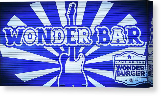 Wonder Bar Canvas Print featuring the photograph Wonder Bar - Sign by Colleen Kammerer