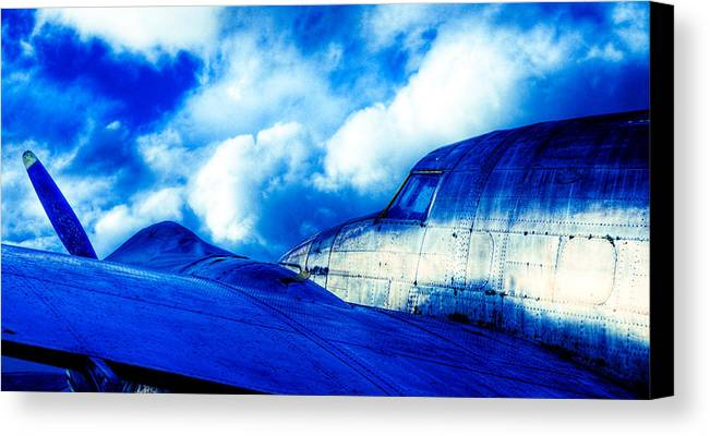 Lockheed Hudson Canvas Print featuring the photograph Blue Hudson by motography aka Phil Clark