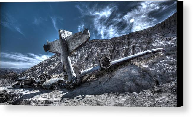 Ghost Town Canvas Print featuring the photograph Grounded by Dead Spot Shots