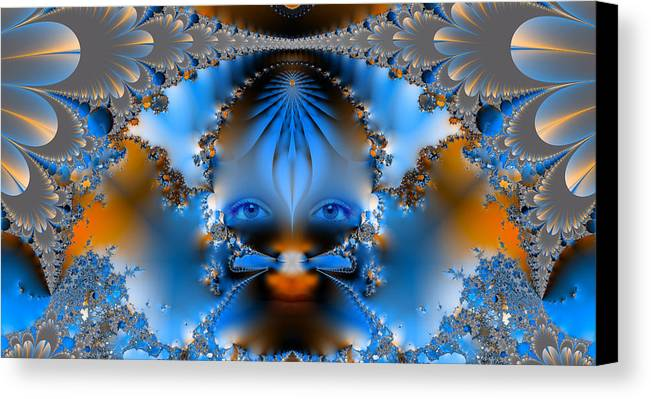 Abstract Canvas Print featuring the photograph Its All In The Eyes by Ian Mitchell