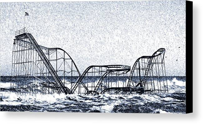 Superstorm Sandy Canvas Print featuring the photograph Jetstar 2012 by Tina McGinley