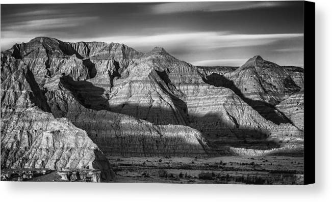 Badlands National Park Canvas Print featuring the photograph Late Afternoon In The Badlands by Abby Krim