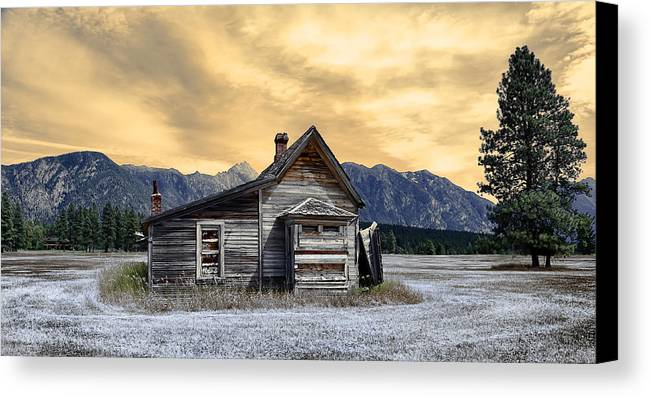 Architecture Canvas Print featuring the photograph Little House On The Prairie by Wayne Sherriff