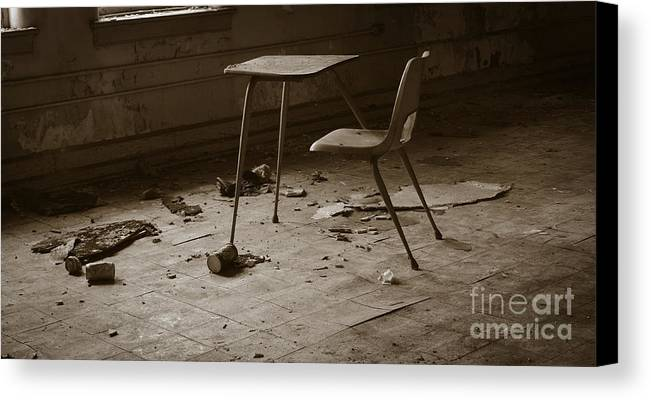 Abandoned Canvas Print featuring the photograph School's Out by Luke Moore