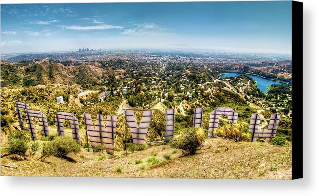 Actress Canvas Print featuring the photograph Welcome To Hollywood by Natasha Bishop