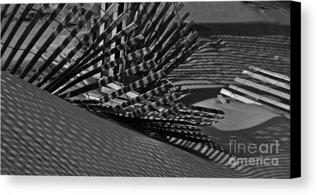 Fence Canvas Print featuring the photograph Shadows by Tamera James