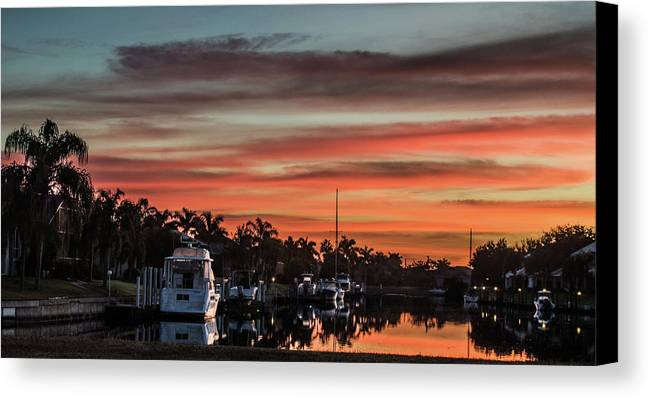 Florida Canvas Print featuring the photograph Punta Gorda From Bal Harbor by Don Kerr