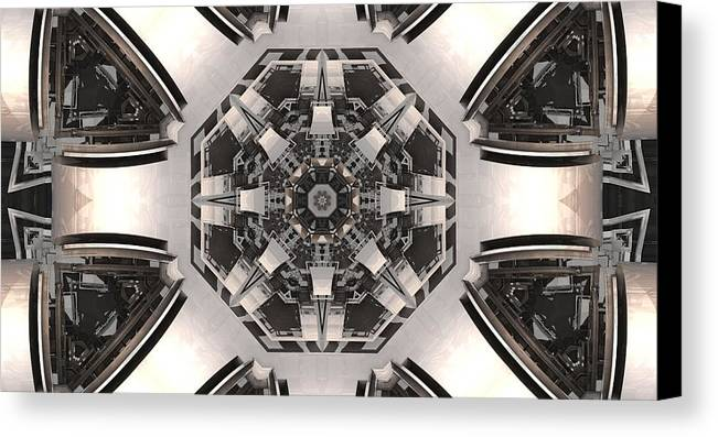 Mandelbulb Canvas Print featuring the digital art Collider by Ricky Jarnagin