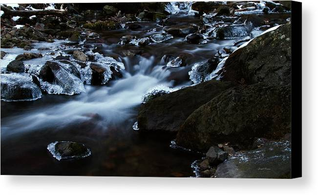 Landscape Canvas Print featuring the photograph Crystal Flows In Hdr by Joseph Noonan