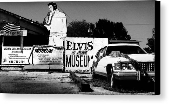 Elvis Canvas Print featuring the photograph Elvis Is Alive Museum by Todd Fox