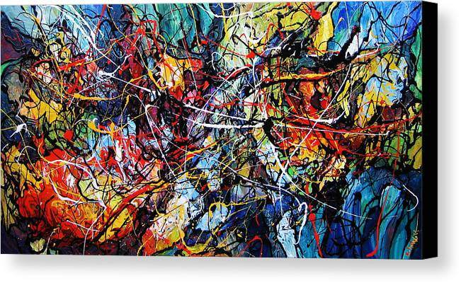 Original Canvas Print featuring the painting Fire And Ice by Eugenia Mangra