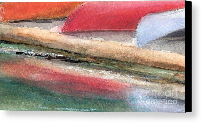 Boats Canvas Print featuring the painting Reflections by Vivian Mosley