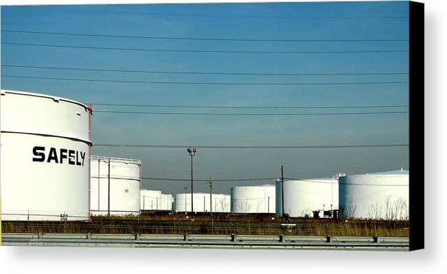 Tankers Canvas Print featuring the photograph Safely by JoAnn Lense