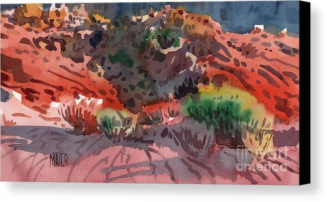 Sagebrush Canvas Print featuring the painting Sagebrush by Donald Maier
