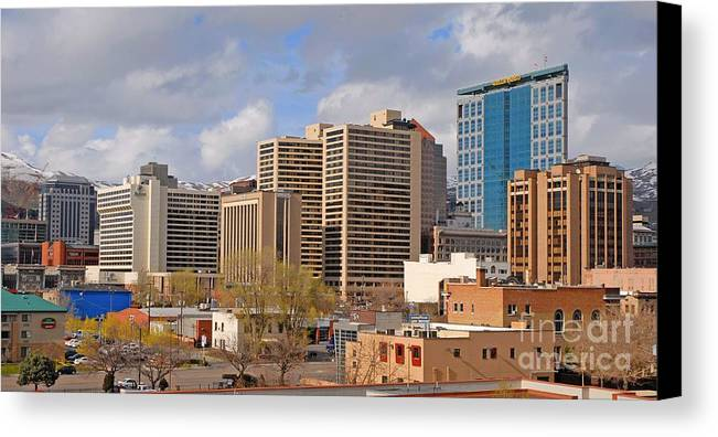 Salt Lake City Canvas Print featuring the photograph Salt Lake City by Dennis Hammer