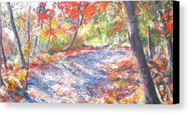 Landscape Canvas Print featuring the painting Shadowplay by Sheila Holland
