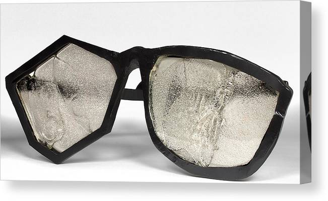 Glasses Canvas Print featuring the photograph Glasses by Jef Franklin
