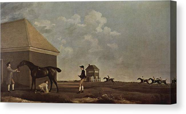 Horse Race Canvas Print featuring the painting Horse Race by MotionAge Designs