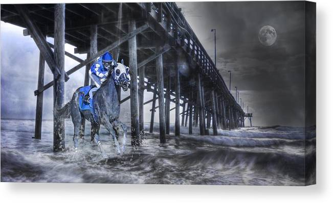Fantasy Canvas Print featuring the photograph Night Run II by Betsy Knapp