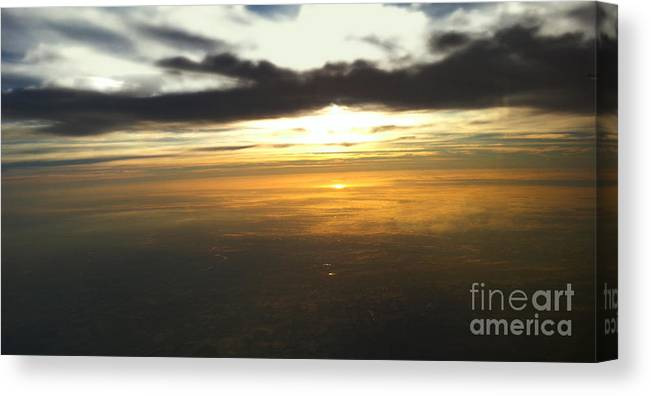 Flight Canvas Print featuring the photograph Sky Above by Raymond Earley