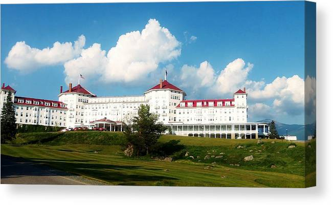 Building Canvas Print featuring the photograph The Resort by Ashley Casterline