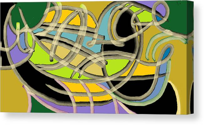 Canvas Print featuring the digital art French Horn by Beebe Barksdale-Bruner