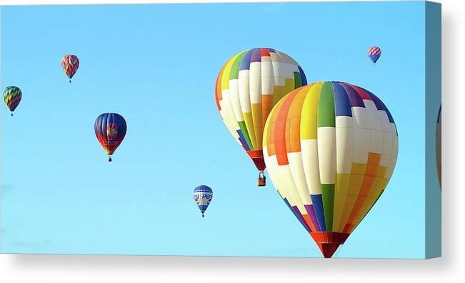 Balloons Canvas Print featuring the photograph 7 Balloons by Linda Cupps