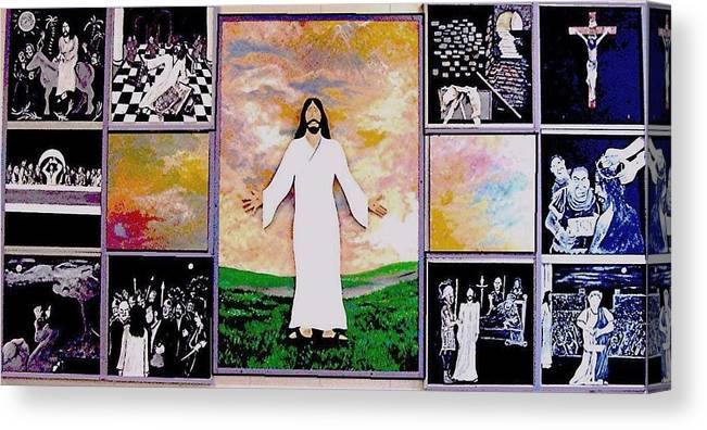 Jesus Canvas Print featuring the relief All - 1 by Richard Hubal
