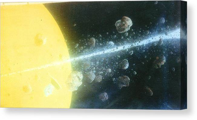 Spacescape Canvas Print featuring the painting View Master by A Robert Malcom