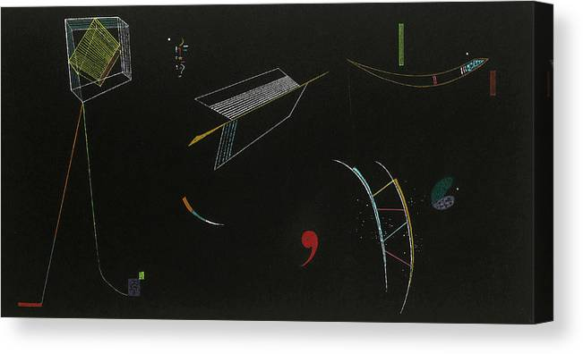 Kandinsky. Lines Canvas Print featuring the painting Lines, 1939 by Wassily Kandinsky