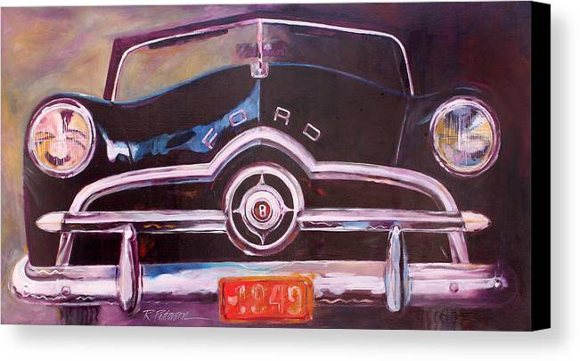 Transportation Canvas Print featuring the painting 1949 Ford by Ron Patterson