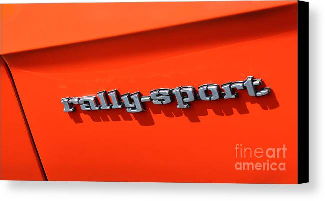 1969 Chevrolet Camaro Rs Canvas Print featuring the photograph 1969 Chevrolet Camaro Rs - Orange - Side Rs - 7562 by Gary Gingrich Galleries