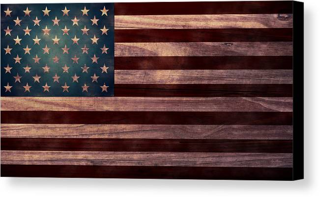 American Flag Canvas Print featuring the digital art American Flag I by April Moen