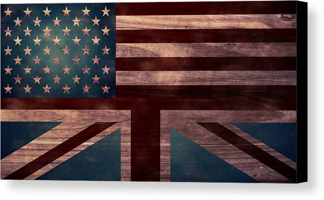 American Flag Canvas Print featuring the digital art American Jack I by April Moen