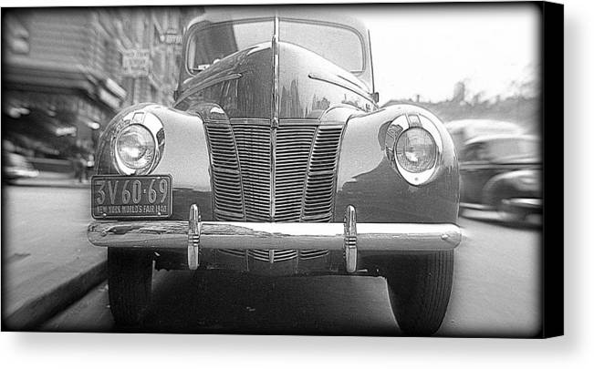 Car Canvas Print featuring the photograph Chrome Grill by Hank Clark