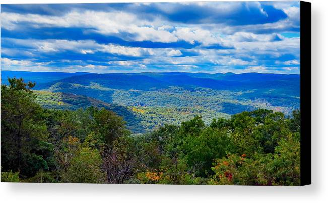 Sky Canvas Print featuring the photograph Cloud Shadows by Art Dingo