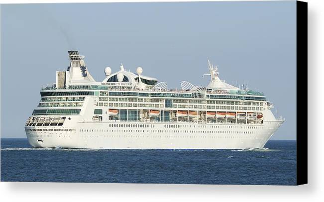 Cruise Ship Canvas Print featuring the photograph Enchantment Of The Seas by Bradford Martin