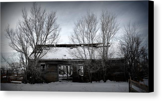 Old House Canvas Print featuring the photograph Hollow Home by Miss Judith