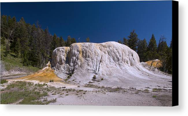 Yellowstone National Park Canvas Print featuring the photograph Orange Spring Mound by Breck Allman