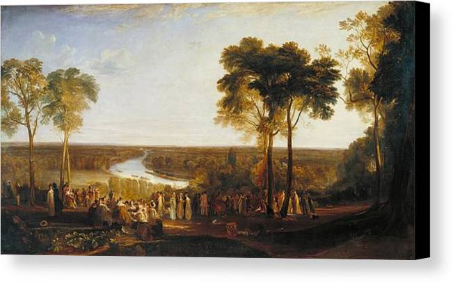 1819 Canvas Print featuring the painting Richmond Hill On The Prince Regent's Birthday by JMW Turner