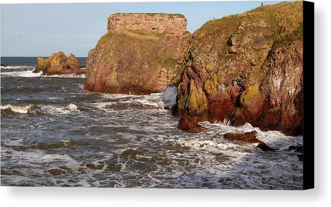 Sea Canvas Print featuring the photograph Sea And Rocks by John Bailey