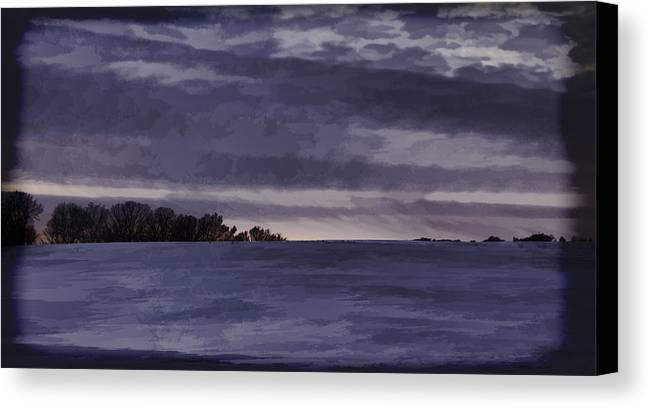 Winter Canvas Print featuring the photograph Winter Blues by Thomas Young