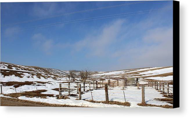 Farm Canvas Print featuring the photograph Winter Pasture by Dale Mark
