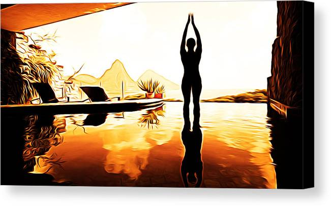 Yoga Canvas Print featuring the painting Yoga Life by Studio