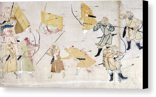 1293 Canvas Print featuring the photograph Japan: Mongol Invasion by Granger