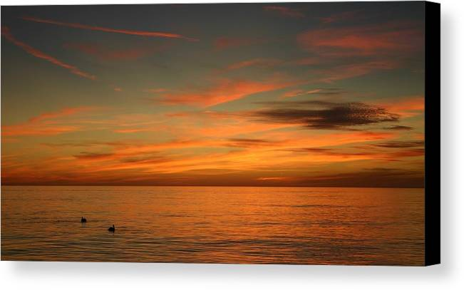 Gulf Canvas Print featuring the photograph Gulf Sunset Two by Doug Hubbard