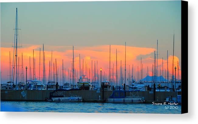 Sunset Canvas Print featuring the photograph Warm Sunset by Simone Hester