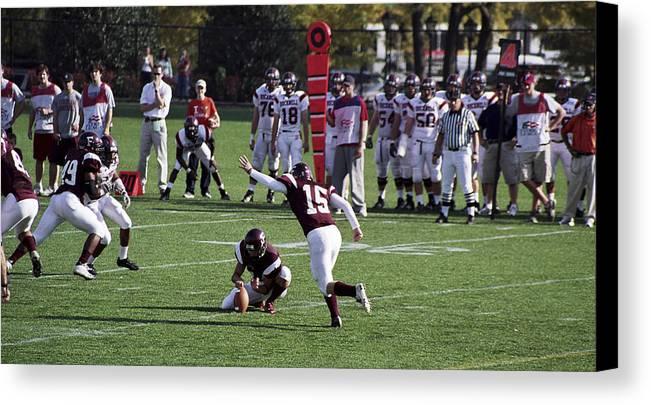 Kicking Canvas Print featuring the photograph Football by Wes Shinn