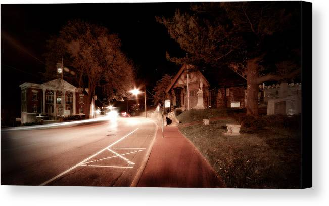 Long Island Canvas Print featuring the photograph 25a East Bound by Michael Simeone